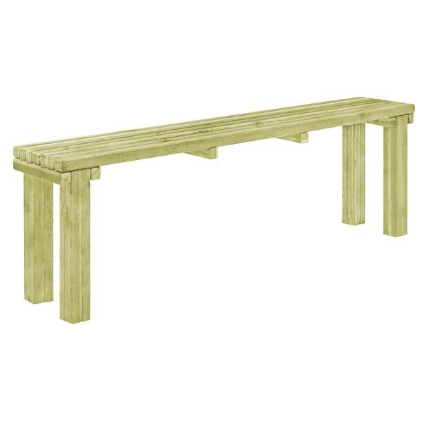 Eetkamerbank 130x27,5x45 cm natuurlijk grenenhout