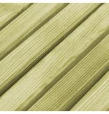 vidaXL Eetkamerbank 130x27,5x45 cm natuurlijk grenenhout