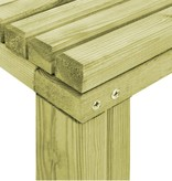 vidaXL Eetkamertafel 170x75,5x77 cm natuurlijk grenenhout