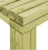 vidaXL Eetkamertafel 150x75,5x77 cm natuurlijk grenenhout
