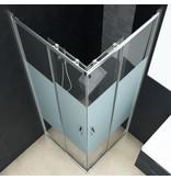 vidaXL Douchecabine 80x70x185 cm veiligheidsglas