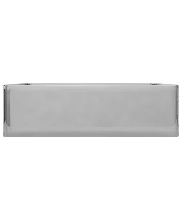 vidaXL Wastafel 41x30x12 cm keramiek zilverkleurig