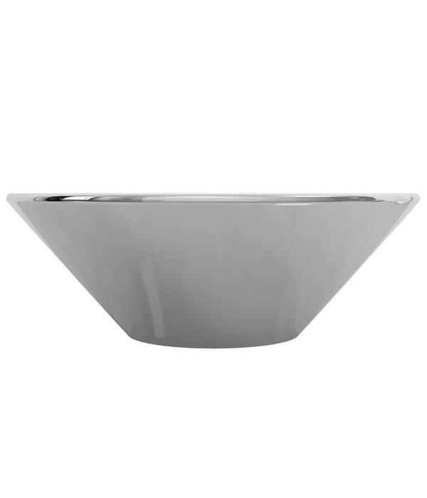 vidaXL Wastafel 42x14 cm keramiek zilverkleurig
