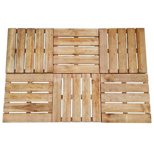 12 st Terrastegels 50x50 cm FSC hout bruin