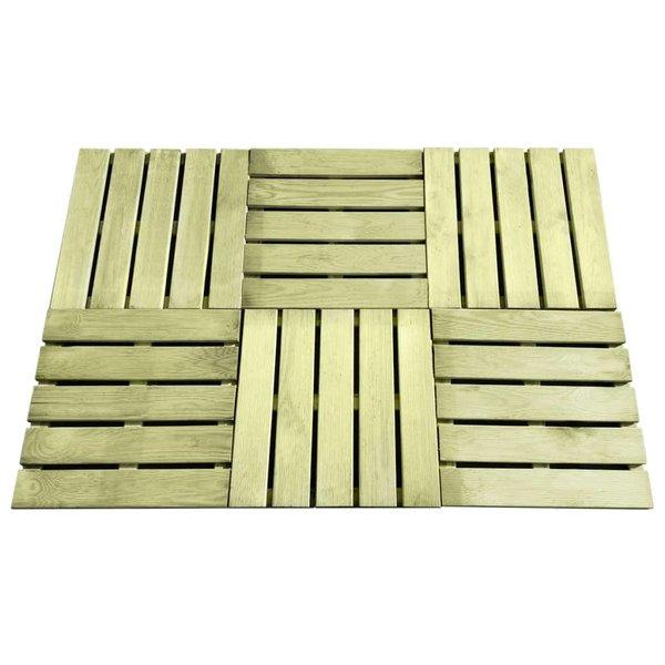 12 st Terrastegels 50x50 cm FSC hout groen