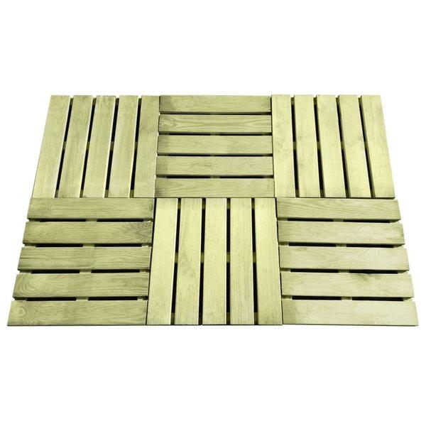 24 st Terrastegels 50x50 cm FSC hout groen