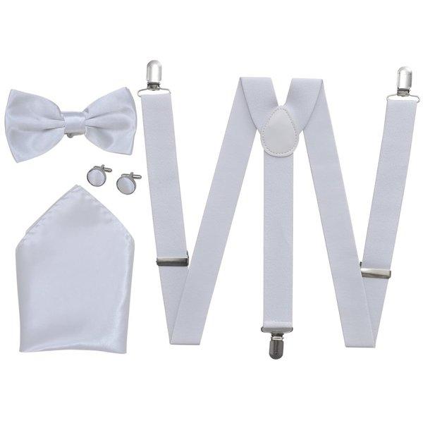 Smoking accessoires bretels en vlinderdas set mannen wit