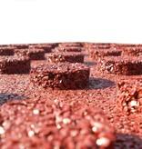 vidaXL Valtegels 12 st 50x50x3 cm rubber rood