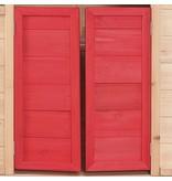 vidaXL Kinderspeelhuis hout rood