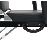 vidaXL Gezichtsbehandelstoel draagbaar 185x78x76 cm kunstleer zwart - Retourdeal