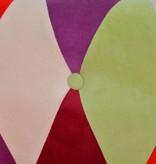 vidaXL Tweezitsbank Chesterfield-stijl stof meerkleurig - Retourdeal