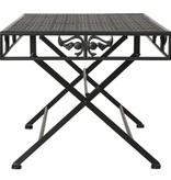 vidaXL Salontafel vintage stijl inklapbaar 100x50x45 cm metaal zwart - Retourdeal