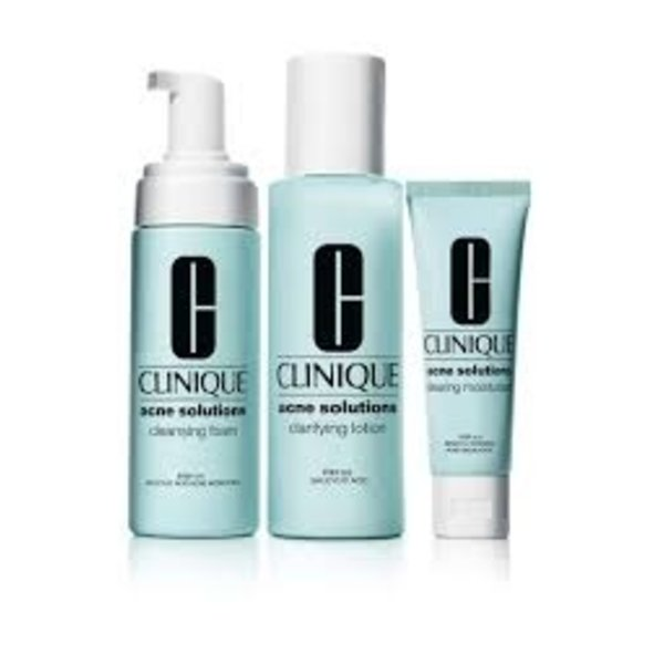 Clinique Anti Blemish Solution 3 Step System Cleansing Foam50Ml/Clarifying Lotion100Ml/Clearing Treatment