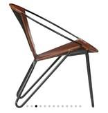 vidaXL Relaxstoel 69x69x69 cm echt leer bruin