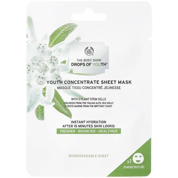 The Body Shop Drops Of Youth Concentrate Sheet mask 21 ml