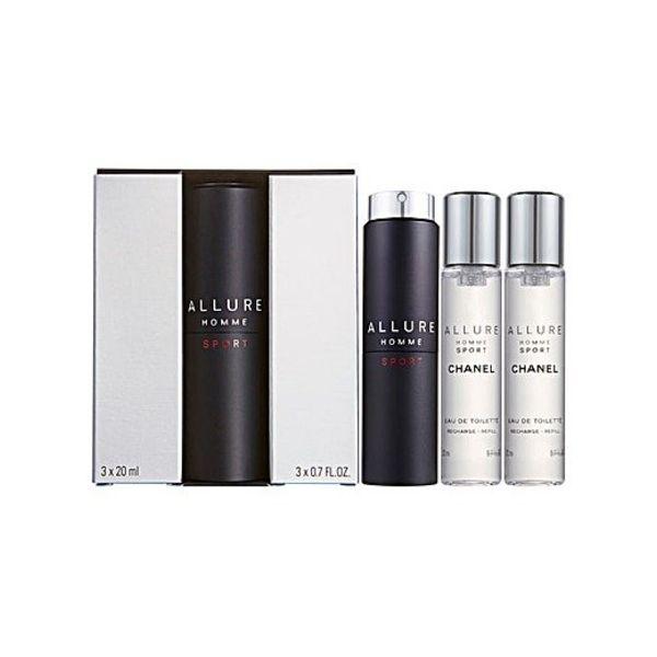 Chanel Allure Homme Sport - Geschenkset 3 x 20 ml