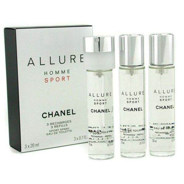 CHANEL ALLURE HOMME SPORT EDT SPRAYS 3 X 20 ML