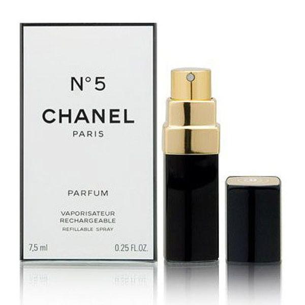 Chanel No.5 parfum spray refillable 7,5 ml.DAMES