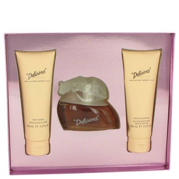 Delicious Gift Set - 100 ml Eau De Toilette Spray + 100 ml Body Lotion + 100 ml Body Wash