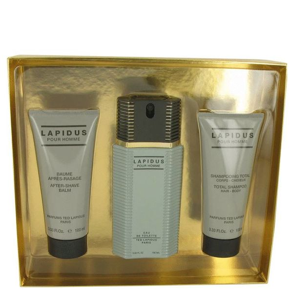 Ted Lapidus Pour Homme Set 100ml edt + 100ml showergel + 100ml aftershave balm