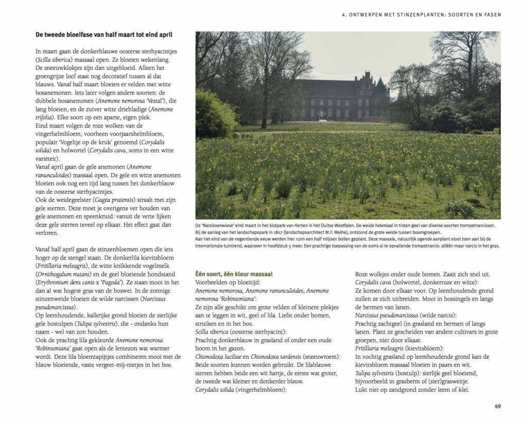 Boek  Tuinieren met Stinzenplanten - T. Woerdeman - 2e druk