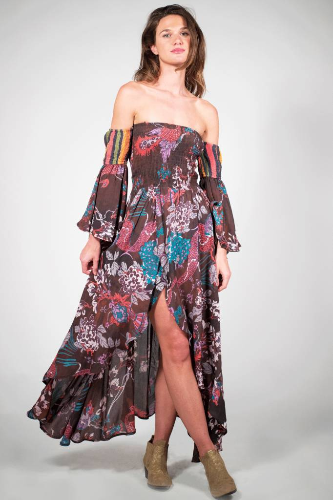 f4f884126b89 Z&L Off Shoulder Dress Flower Flare Z&L - Antra
