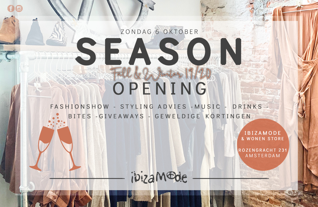 6 oktober: SEASON OPENING @ Ibizamode Store Amsterdam