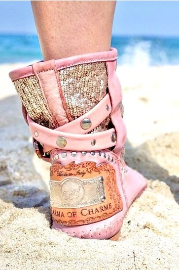 Ankle boots Tronchetto Donna Metallic Old Pink