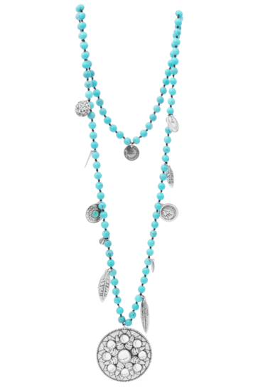 Collier Perles Turquoise