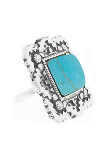 Ring Square Shine Turquoise