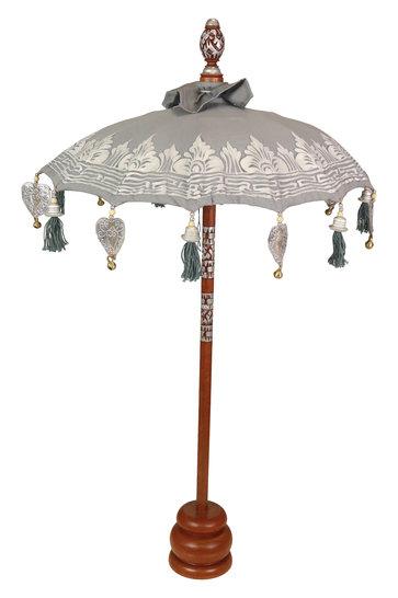 Sombrilla de mesa gris-plata