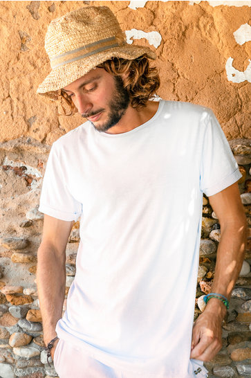 Herren T-Shirt Basic White