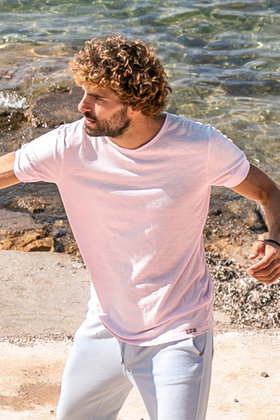 Herren T-Shirt Basic Light Pink