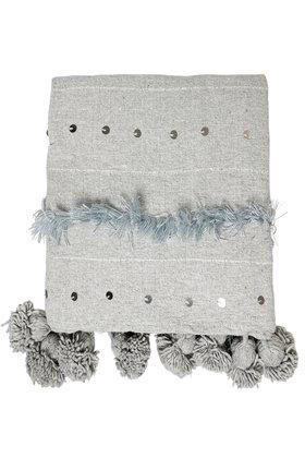 Blanket Handira Pompom Gray