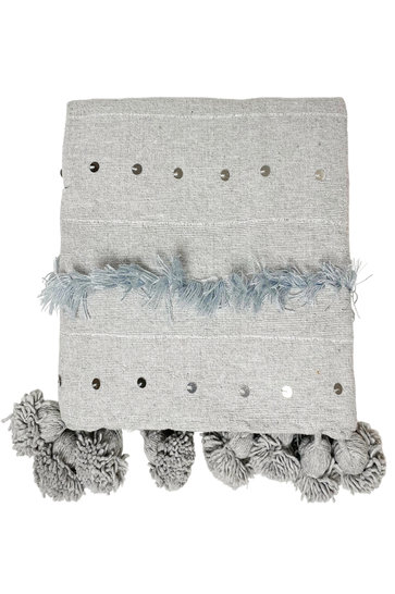 Decke Handira Pompom Grey