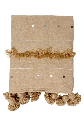 Blanket Handira Pompom Camel
