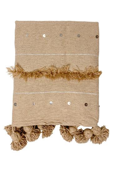Deken Handira Pompom Camel