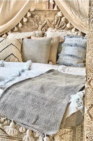 Luxus gewebte Decke Beige