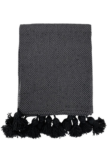 Luxury Woven Blanket Black