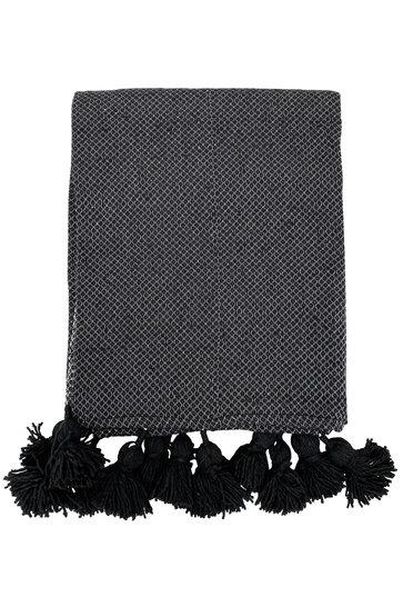Luxus gewebte Decke schwarz