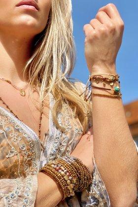 Bracelet Stones Gold