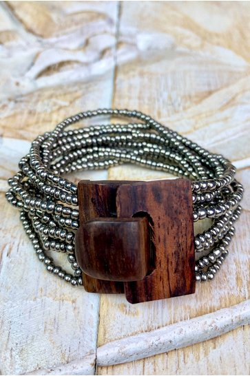 Armband Hout Zilver