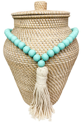 Deco Necklace Beads Turquoise