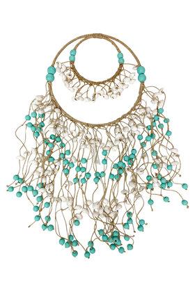 Decoration Pendant Shells Turquoise