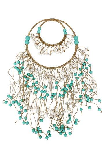 Decoratie Hanger Schelpen Turquoise