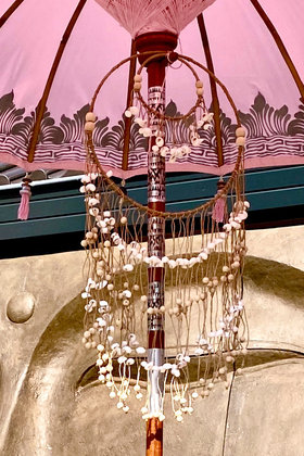 Dekoration Kleiderbügel Muscheln Pink