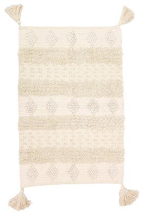 Gewebter Teppich Boho Cream 70x100cm