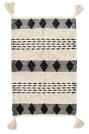 Gewoven Kleed Boho Zwart 70x100cm