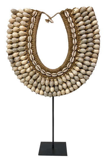 Shell Necklace On Standard Brown 50cm