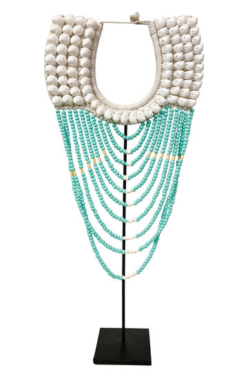 Shell Necklace On Standard Turquoise 70cm